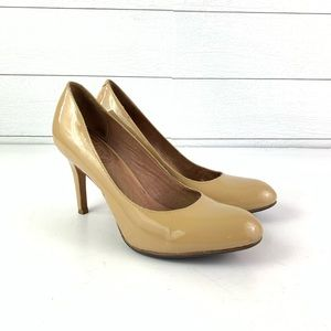 Corso Como Tan Patent Leather Heels Size 8.5